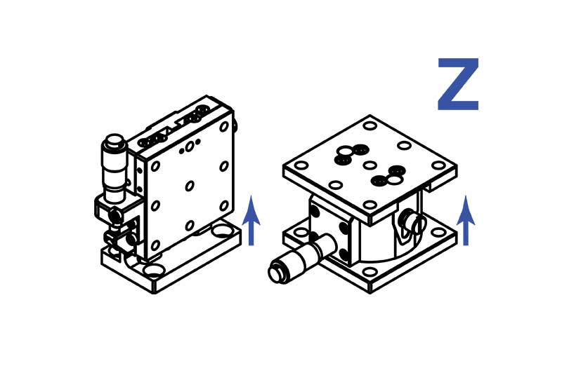 Manual Linear Z Axis (vertical) Translation Stages