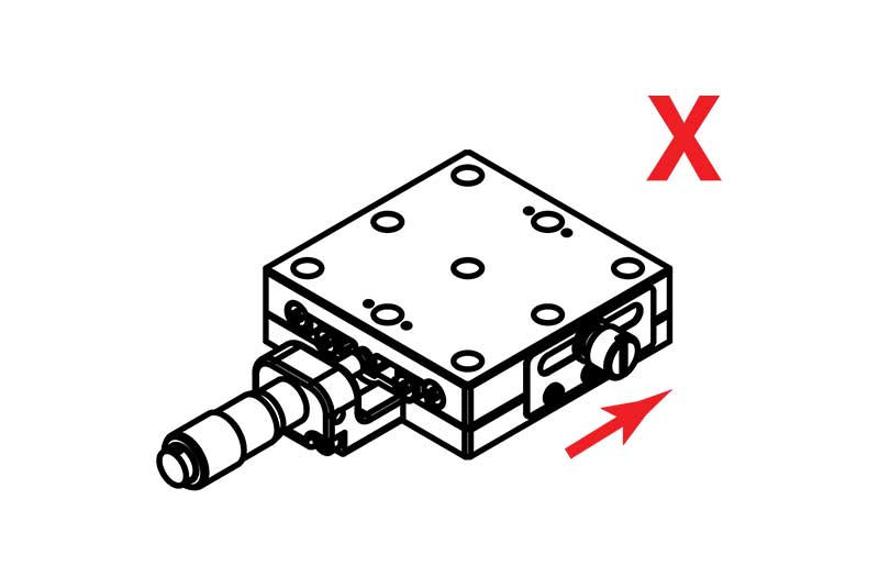 Manual Linear X Axis Translation Stage