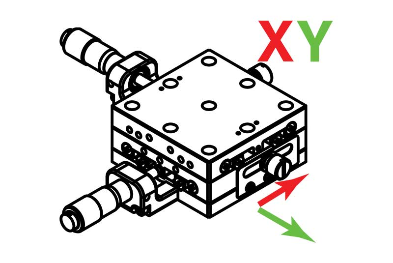Manual Linear XY Axis Translation Stages