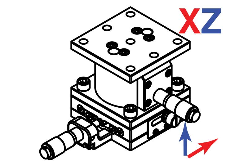 Manual Linear XZ Axis Translation Stages