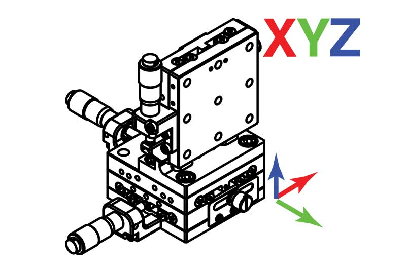 Manual Linear XYZ Axis Translation Stages
