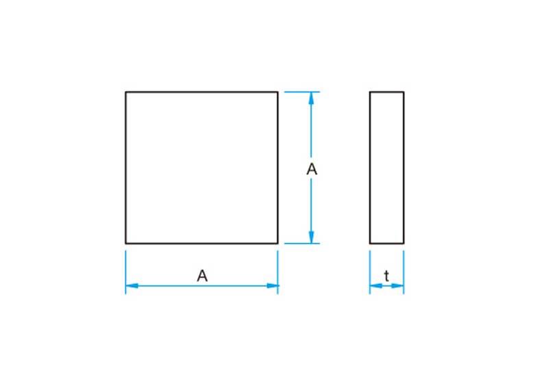 Square Aluminum Mirrors
