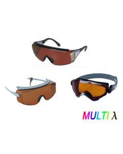 Laser Protective Eyewear for Multiwavelength