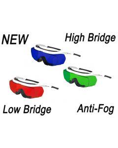 Laser Protective Eyewear, Anti-Fog High/Low Bridge