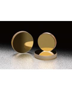Gold Flat Mirrors (Circle)