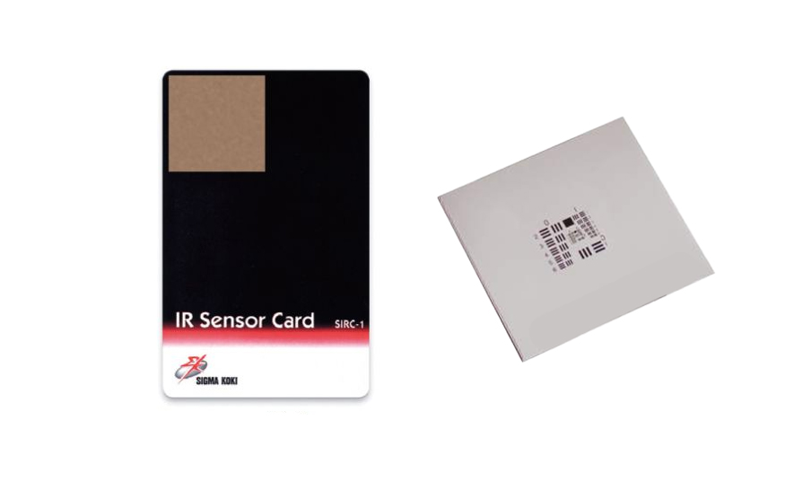 Resolution Targets And IR-UV Cards